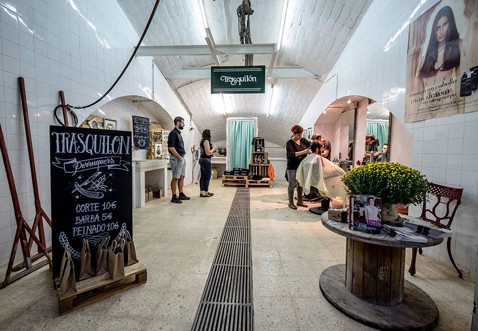 Barberia vintage de Trasquilon en el Vintage Market Tarrgona 2015